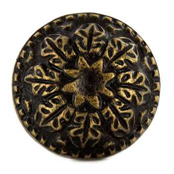 Antique Bronze Metal Round Scroll Knob
